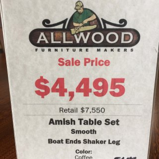 42″ X 6′ X 30″ Shaker Leg Table In Stock @ Pinhook PH-117