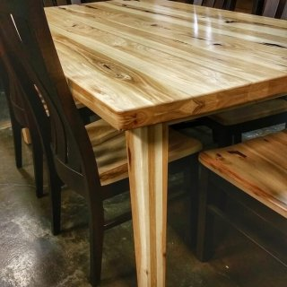 Amish Hickory Table and Chair set @UL Store UL-208 In stock