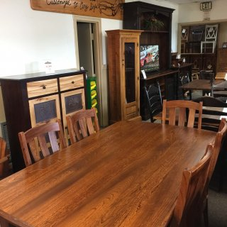 Amish Elwood Table set with chairs – Pinhook 117