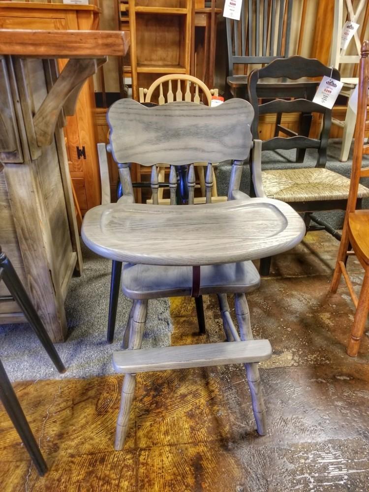 Oak High Chair Ul Store Ul 216 In Stock All Wood Furniture