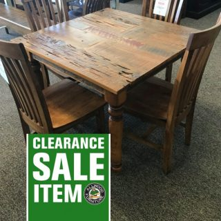 40″ x 40″ Country Turned Barnwood Table w/Pecky @ Baton Rouge BR-313 SOLD