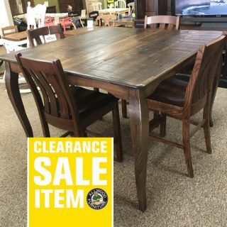 54″ x 54″ French Leg Table @ Baton Rouge In Stock BR-317