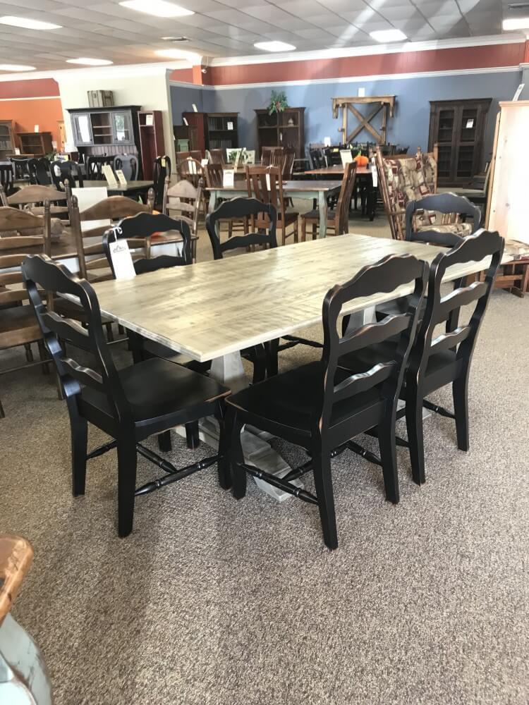 40 X 6 39 Farmhouse Pedestal Table Baton Rouge In Stock