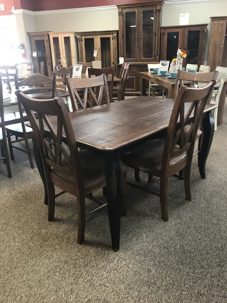 36 X 5 39 French Leg Table Baton Rouge In Stock Br 304 All Wood Furniture