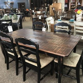 40″ x 6′ Creole Leg Table @ Baton Rouge In Stock BR-334