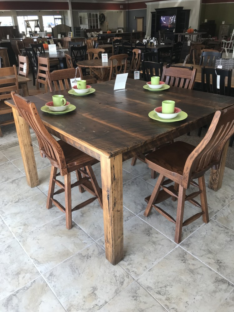 5 39 X 5 39 4x4 Beam Leg Barnwood Table Baton Rouge In Stock Br 307 All Wood Furniture