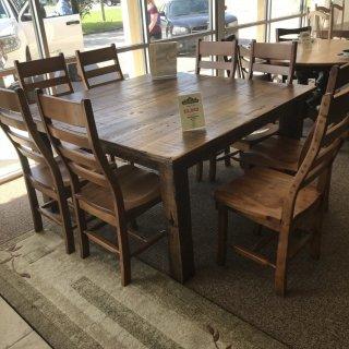 57u2033 X 57u2033 (4×4) Beam Leg Barnwood Table @ Baton Rouge BR 308 SOLD