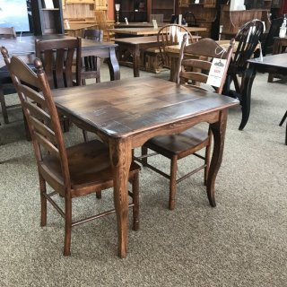 36″ x 36″ Creole Leg Table @ Baton Rouge In Stock BR-316