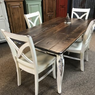 40″ x 6′ French Leg Table @ Baton Rouge BR-326 SOLD