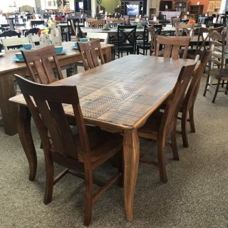 40″ x 7′ French Leg Table @ Baton Rouge BR-331 SOLD