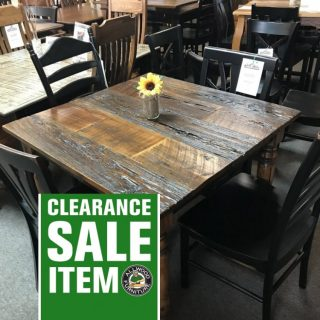 "40"" x 40"" Country Turned Leg Table @ Pinhook In Stock PH-201"