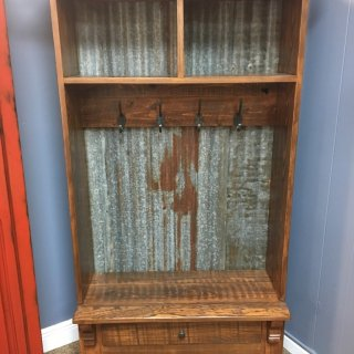 Corbel Tin Hall Tree w/ 1 Drawer @ Baton Rouge in Stock BR-334
