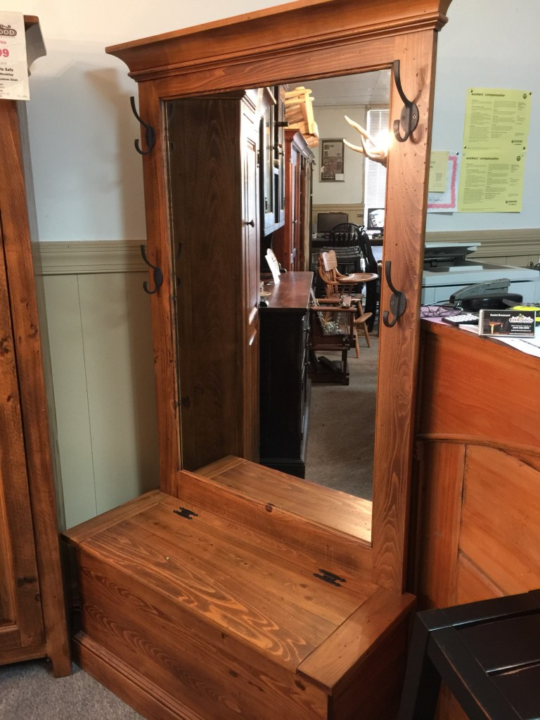 Rustic Acadlana Hall Tree In Stock @ Pinhook Ph 211   ALL Wood Furniture