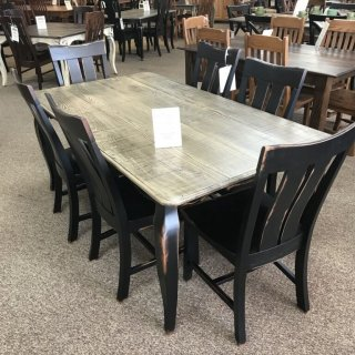 40″ x 6′ French Leg Table @ Baton Rouge BR-300 In Stock