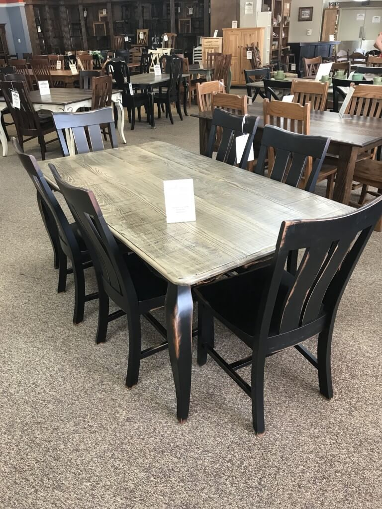 40 X 6 French Leg Table At Baton Rouge Br 300 Sold All Wood Furniture