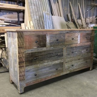 Barnwood Dresser in Progress