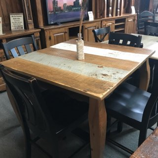 40″ X 40″ X 36″ Barnwood French Table @ Pinhook PH-115 In Stock