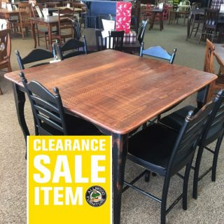 "53"" x 53"" Pub Height Creole Leg Table @ Baton Rouge BR-341 SOLD"