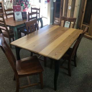 "40"" x 5' Sinker Cypress Creole Leg Table @ Baton Rouge in Stock BR-340"