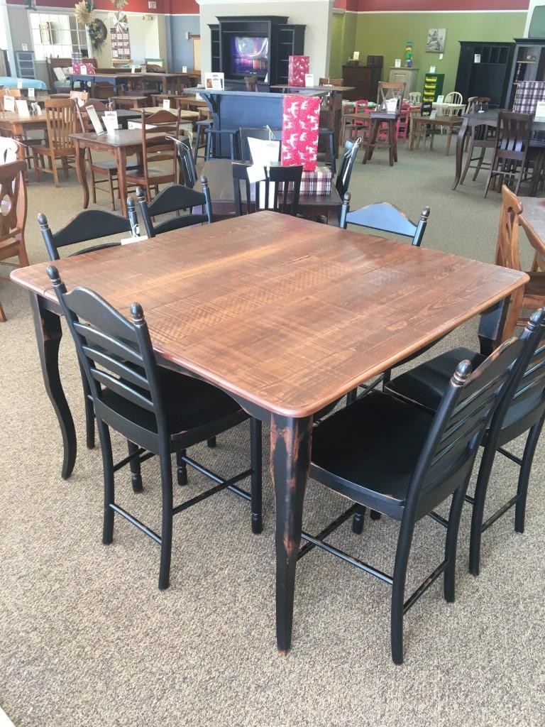 53u201d X 53u201d Pub Height Creole Leg Table @ Baton Rouge In Stock BR 341
