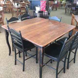 "53"" x 53"" Pub Height Creole Leg Table @ Baton Rouge in Stock BR-341"