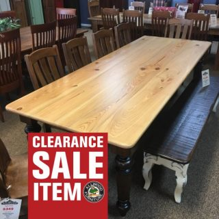 """40"""" x 9' Giant Colonial Leg Table @ Baton Rouge in Stock BR-347"""