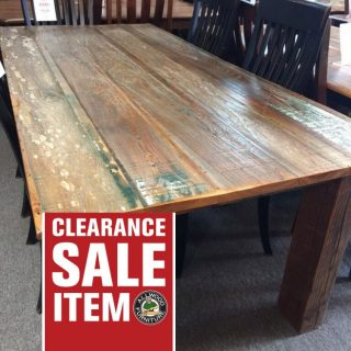 38″ x 7′ Barnwood Table @ Pinhook PH-215