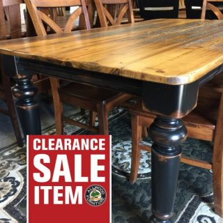 40″ x 6′ Colonial Barnwood Table @ Pinhook In Stock PH-221