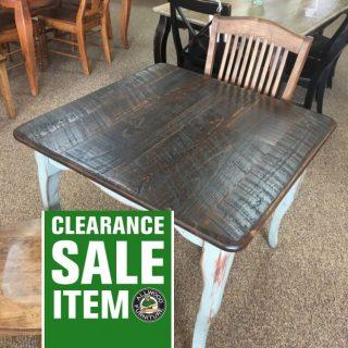 "36"" x 36"" Creole Leg Table @ Baton Rouge in Stock BR-346"