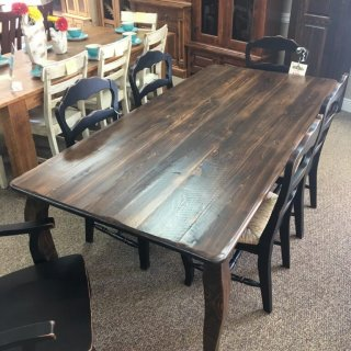 "40"" x 7' French Leg Table @ Baton Rouge in Stock BR-342"