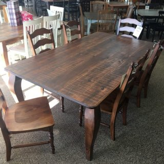 """48"""" x 7' Giant French Leg Table @ Baton Rouge BR-343 SOLD"""
