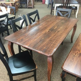"40"" x 6' French Leg Table @Baton Rouge BR-345 SOLD"