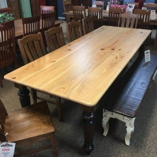 "40"" x 9' Giant Colonial Leg Table @ Baton Rouge in Stock BR-347"