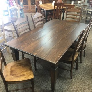 "40"" x 6' Knotched Taper Leg Table @ Baton Rouge in Stock BR-348"