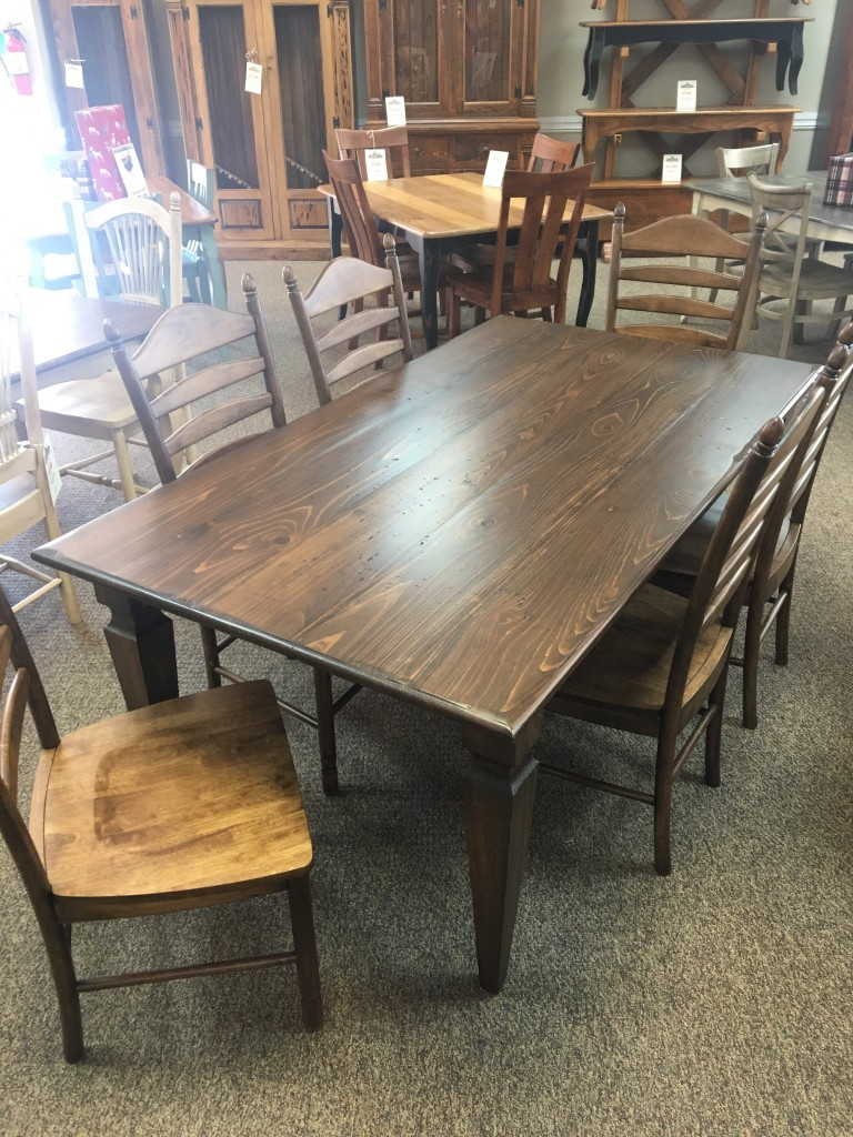 40 X 6 Knotched Taper Leg Table Baton Rouge In Stock Br 348 All Wood Furniture