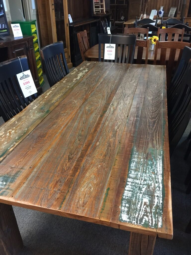 Barnwood Table Pinhook Ph 215 In Stock All Wood Furniture