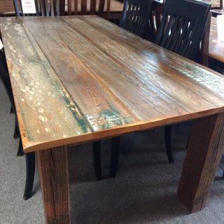 38″ x 7′ Barnwood Table @ Pinhook PH-215 In Stock