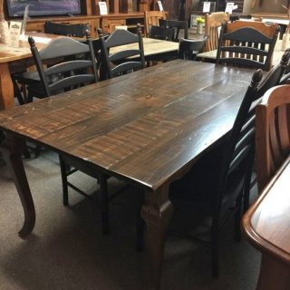 40″ x 6′ Cabriole Table @ Pinhook PH-219 In Stock