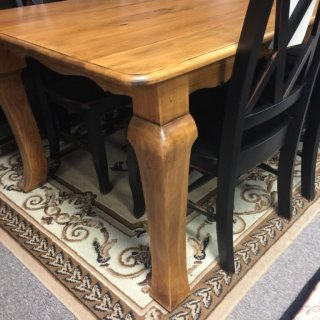 40″ x 7′ Cabriole Table @ Pinhook PH-220 In Stock