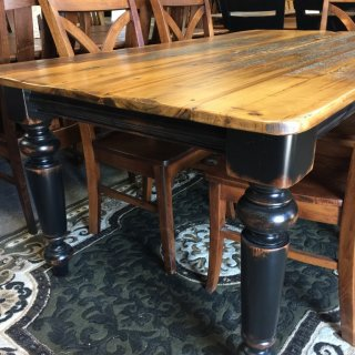 40″ x 6′ Colonial Barnwood Table @ Pinhook PH-221 In Stock