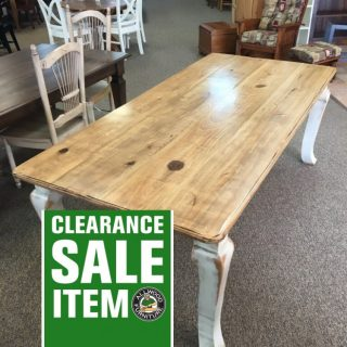 """40"""" x 7' Giant Cabriole Leg Table @ Baton Rouge in Stock BR-350"""