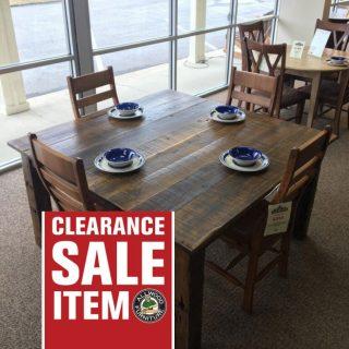 """56"""" x 56"""" Barnwood Block Leg Table @ Baton Rouge in Stock @ BR-354"""