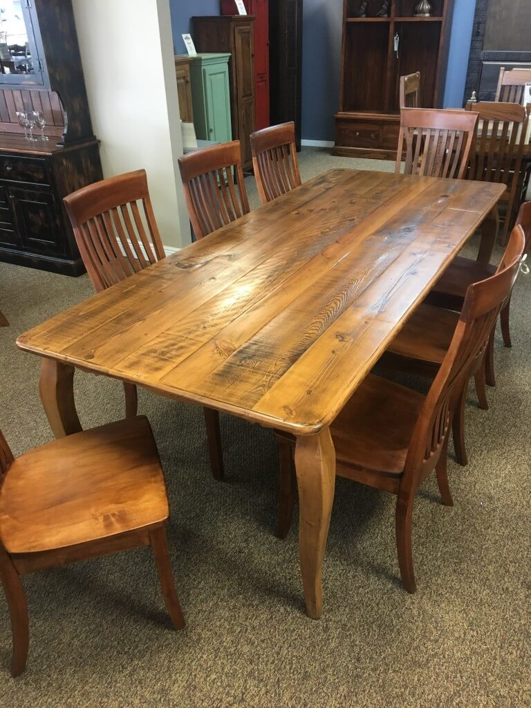 40 X 8 French Leg Table Baton Rouge In Stock Br 349 All Wood Furniture