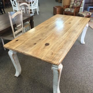 "40"" x 7' Giant Cabriole Leg Table @ Baton Rouge in Stock BR-350"