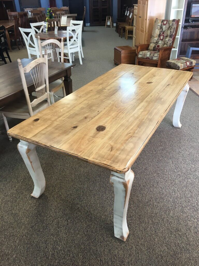 40 X 7 Giant Cabriole Leg Table Baton Rouge In Stock