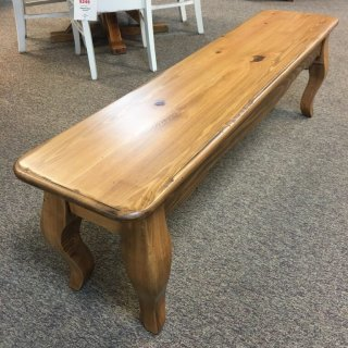 5' French Leg Bench @ Baton Rouge in Stock BR-353