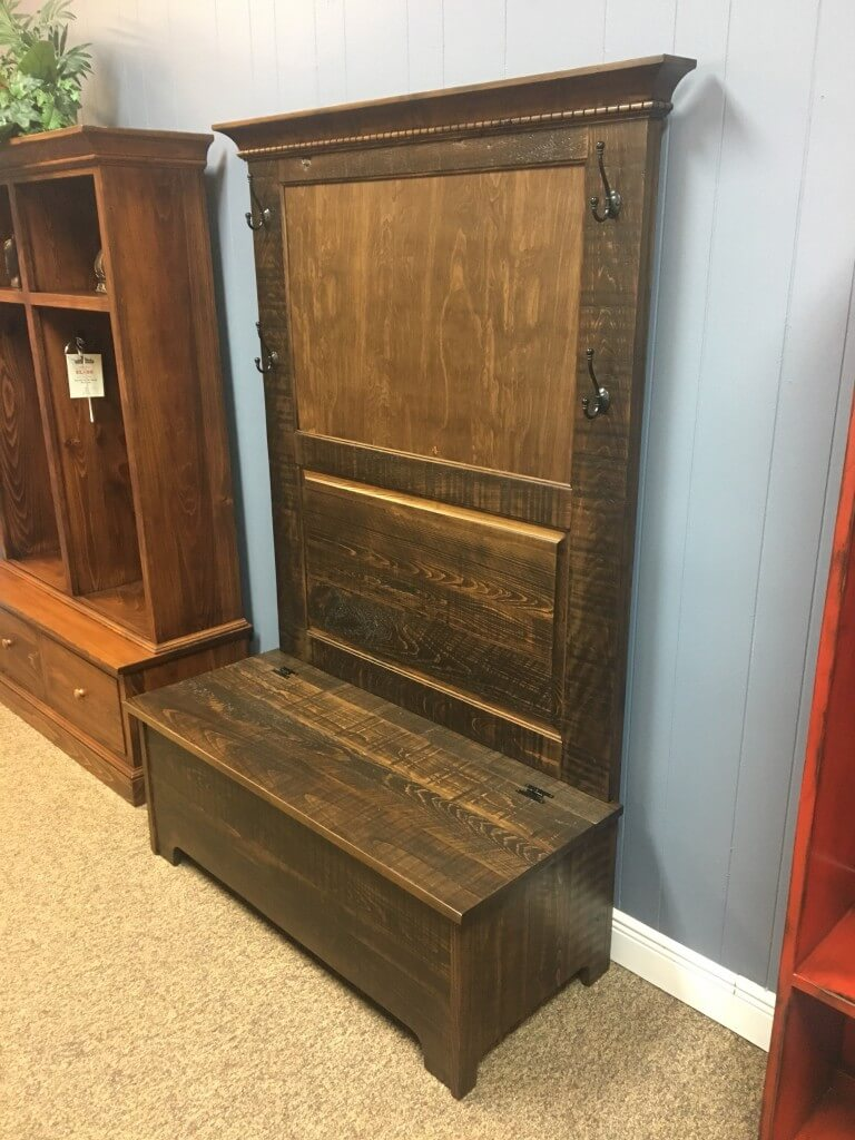 Rustic Shaker Hall Tree W Storage Baton Rouge In Stock