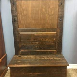 Rustic Shaker Hall Tree w/ Storage @ Baton Rouge in Stock BR-358