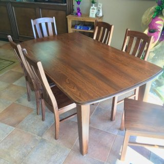 Amish Elmwood Table & 6 Chair Set @ Baton Rouge BR-359 SOLD