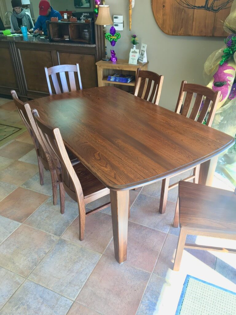 Amish Elmwood Table 6 Chair Set Baton Rouge BR 359 SOLD